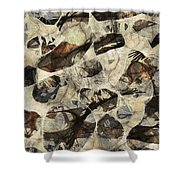 Abstraction 2325 Shower Curtain
