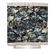 Abstraction 2328 Shower Curtain