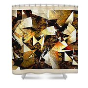 Abstraction 2398 Shower Curtain