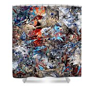 Abstraction 2400 Shower Curtain