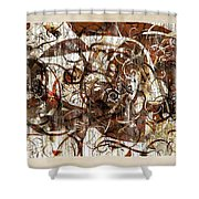 Abstraction 2406 Shower Curtain