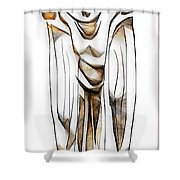 Abstraction 2427 Shower Curtain