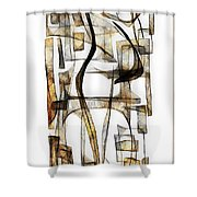 Abstraction 2430 Shower Curtain