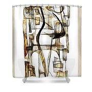 Abstraction 2431 Shower Curtain
