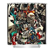 Abstraction 2501 Shower Curtain