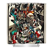 Abstraction 2502 Shower Curtain