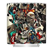Abstraction 2503 Shower Curtain
