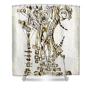 Abstraction 2562 Shower Curtain