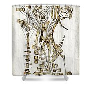 Abstraction 2563 Shower Curtain