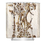 Abstraction 2564 Shower Curtain