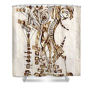 Abstraction 2565 Shower Curtain