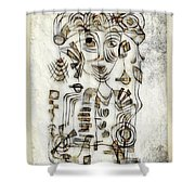 Abstraction 2569 Shower Curtain