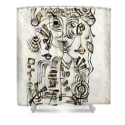 Abstraction 2570 Shower Curtain