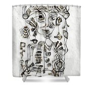 Abstraction 2573 Shower Curtain