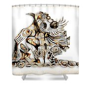 Abstraction 2737 Shower Curtain