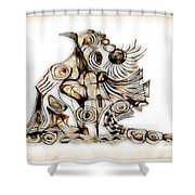 Abstraction 2739 Shower Curtain