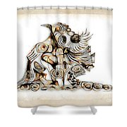 Abstraction 2740 Shower Curtain