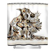 Abstraction 2741 Shower Curtain