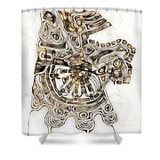 Abstraction 2792 Shower Curtain