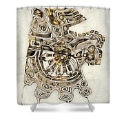 Abstraction 2798 Shower Curtain