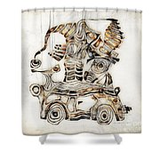 Abstraction 2810 Shower Curtain