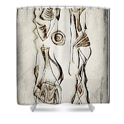 Abstraction 2819 Shower Curtain