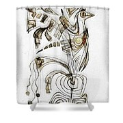 Abstraction 2829 Shower Curtain