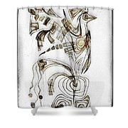 Abstraction 2831 Shower Curtain