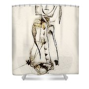Abstraction 2836 Shower Curtain