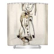 Abstraction 2837 Shower Curtain