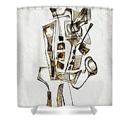 Abstraction 2842 Shower Curtain