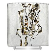 Abstraction 2843 Shower Curtain