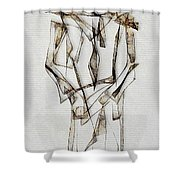 Abstraction 2849 Shower Curtain