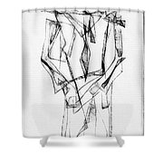 Abstraction 2852 Shower Curtain