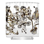 Abstraction 2865 Shower Curtain