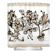 Abstraction 2869 Shower Curtain