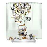 Abstraction 2988 Shower Curtain