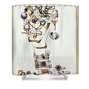 Abstraction 2990 Shower Curtain