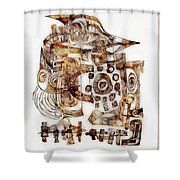 Abstraction 3052 Shower Curtain