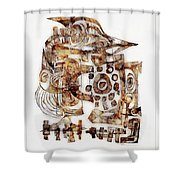 Abstraction 3053 Shower Curtain