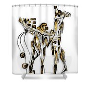 Abstraction 3089 Shower Curtain