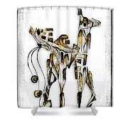 Abstraction 3091 Shower Curtain