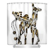 Abstraction 3092 Shower Curtain