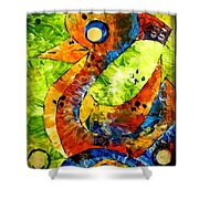 Abstraction 3198 Shower Curtain