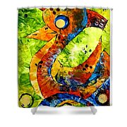 Abstraction 3199 Shower Curtain