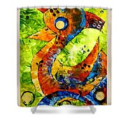 Abstraction 3200 Shower Curtain
