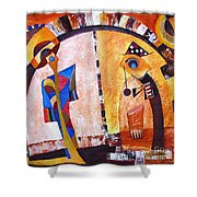 Abstraction 3217 Shower Curtain