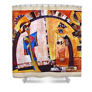 Abstraction 3219 Shower Curtain
