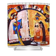 Abstraction 3220 Shower Curtain