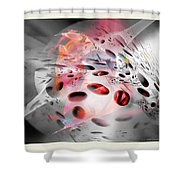 Abstraction 3307 Shower Curtain